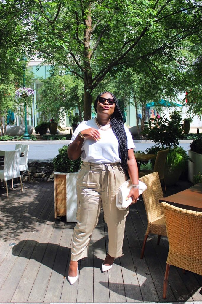 Cargo Pants styled with white T