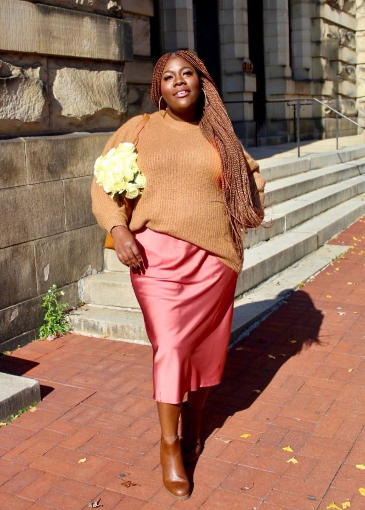 Styling Sweaters with slip skirts or over slip dresses