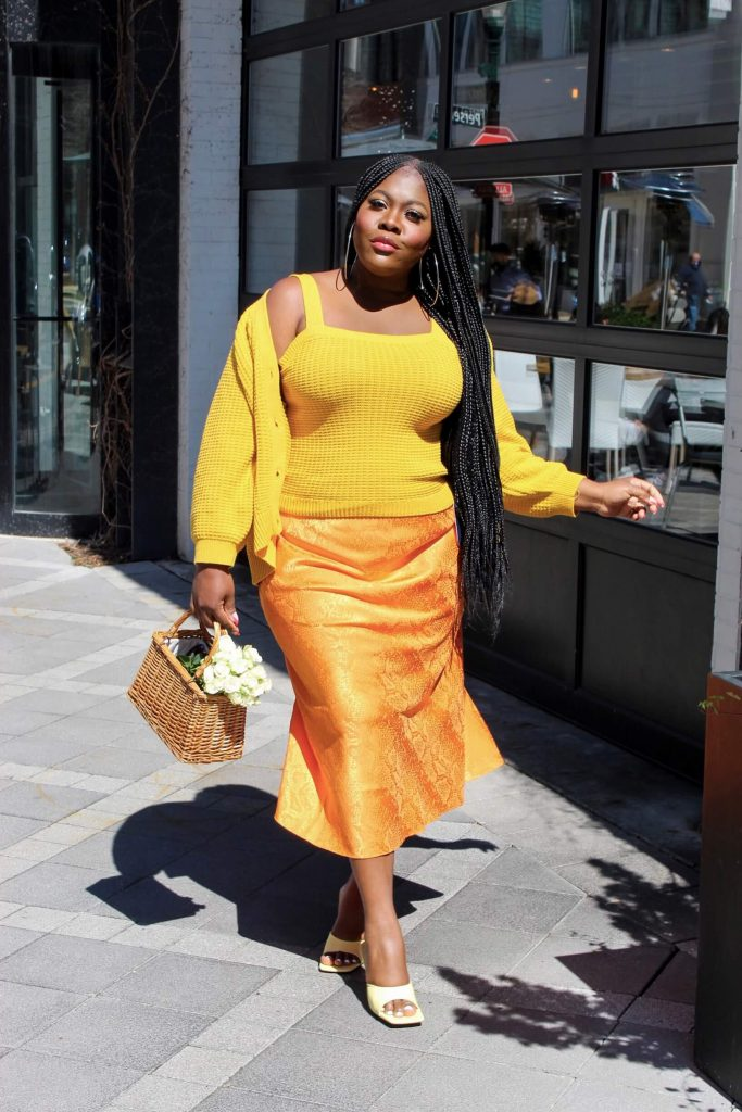 Last Minute Easter Outfit Ideas - Orange and yellow look