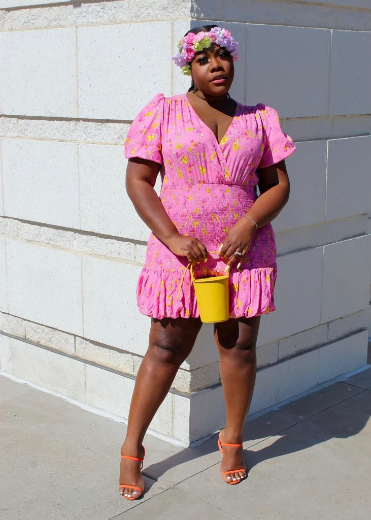 Last Minute Easter Outfit Ideas - Pink Dress